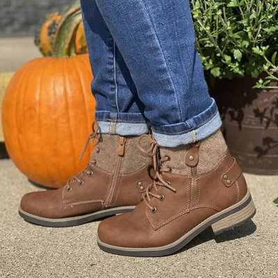 LA Shoe King Tan Autumn Boots