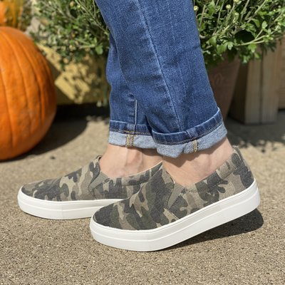 Soda Brand Soda Brand Camo Slip On Shoes