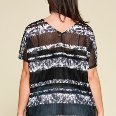 Oddi Black Sheer V-Neck Top (S-3XL)