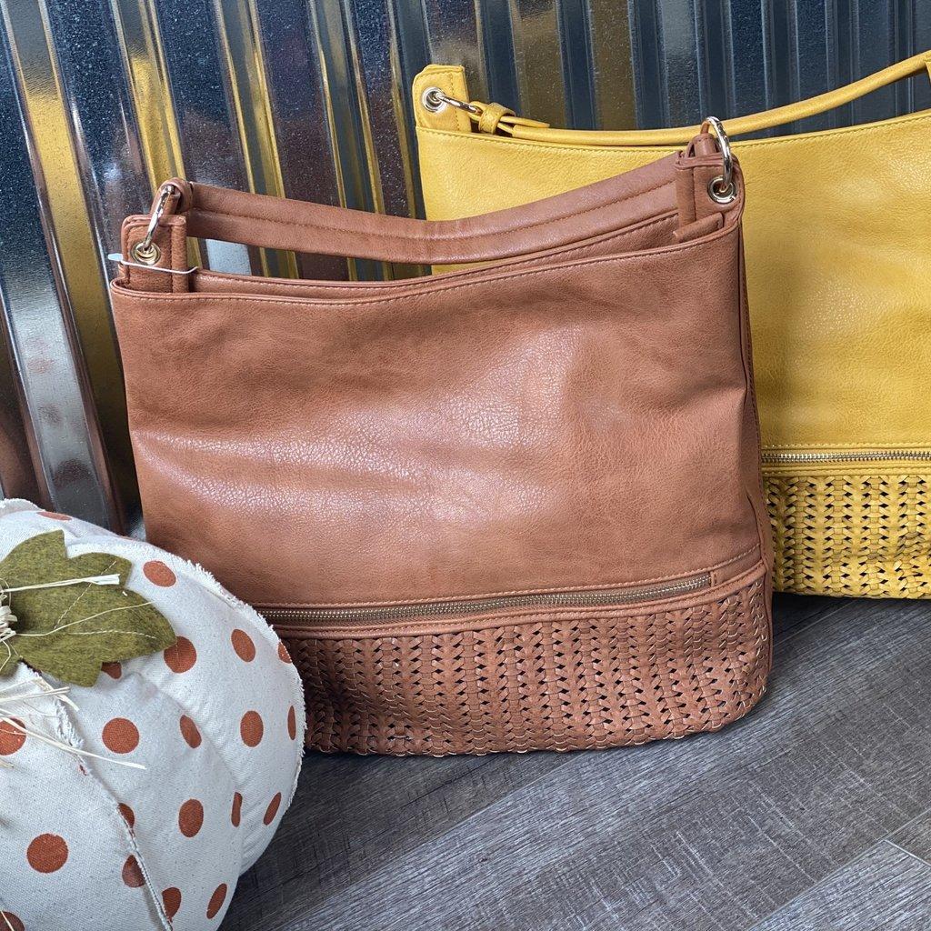 Applejuice Large Mustard Textured Hand Bag