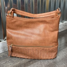 Applejuice Large Brown Textured Hand Bag