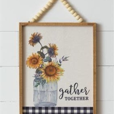 Audrey's Gather Together, Beaded Hanger Sign
