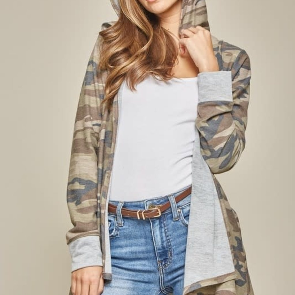 Andree by Unit Camo Hooded Cardigan (S-3XL)