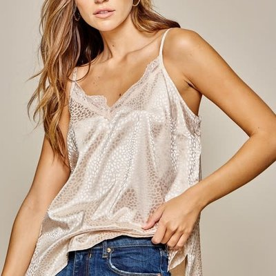 Andree by Unit Loose Leopard Satin Cami
