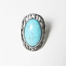 Leto Oblong Turquoise Ring