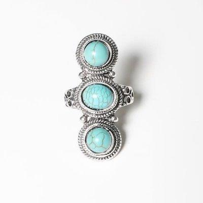 Leto Studded Turquoise Ring