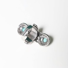 Leto Studded Turquoise Ring