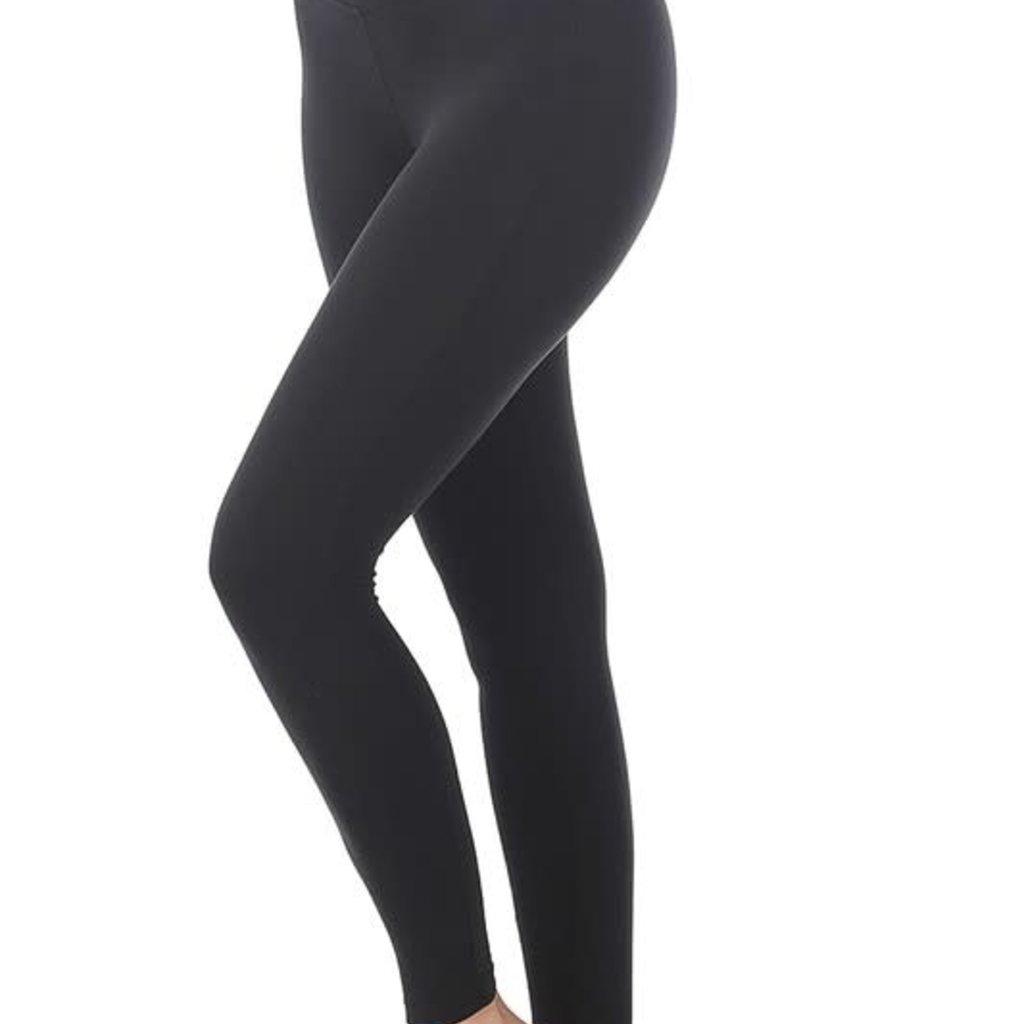 Zenana Black Buttery Solid Leggings
