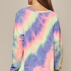 Andree by Unit Long Sleeve Tie Dye Top (S-3XL)