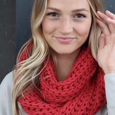 Panache Red Knit Infinity Scarf