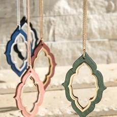 urbanista Wooden Marquee Necklace w/ Earrings