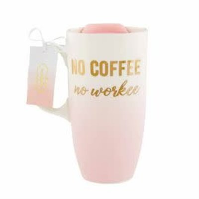 "MUDPIE MudPie Ombre ""No Coffee, No Workee"" Glass Travel Mug"