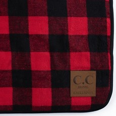 CC HOME EXCLUSIVES Red & Black CC Buffalo Check Throw Blanket
