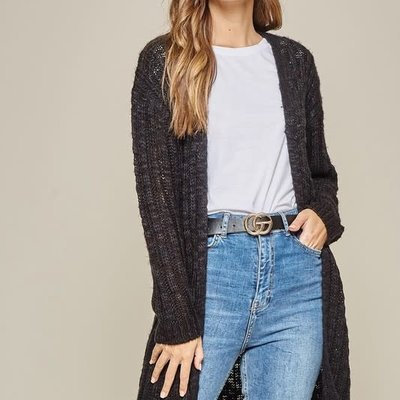 Andree by Unit Black Knit Cardigan (S-3XL)
