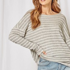 Andree by Unit Ivory Grey Open Back Top (XS-3XL)
