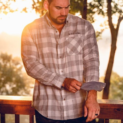 NINE LINE Nine Line Men's Heather Gray White Flannel