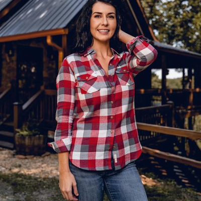 NINE LINE Nine Line Women's Red Gray Flannel