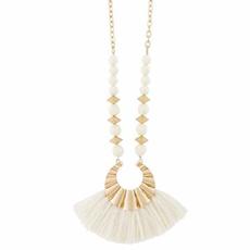 MUDPIE MudPie Beaded Tassel Necklace (3 Colors)