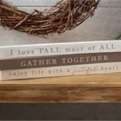 MUDPIE Fall Sentiment Stick Signs