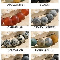 urbanista Large Natural Stone Beaded Bracelets