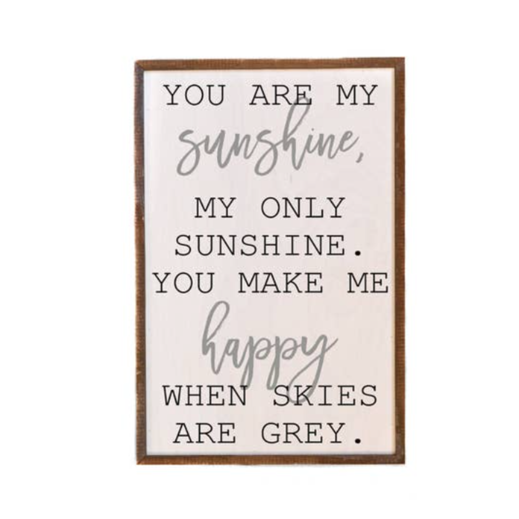 """Design Imports 12"""" x 18"""" You Are My Sunshine Wooden Sign"""