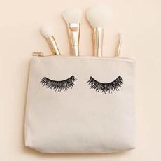 Sweet Water Decor Eyelash Canvas Makeup Bag