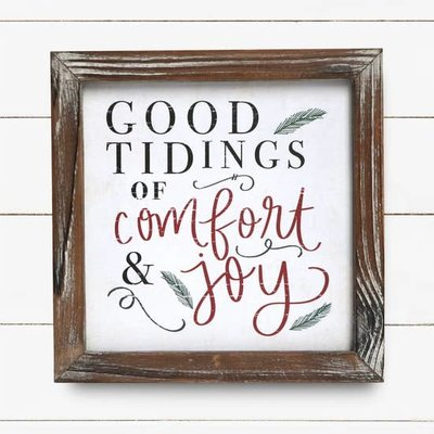 Sweet Water Decor 8x8 Good Tidings Sign