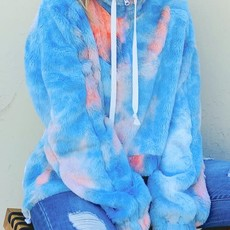 And the Why Blue & Peach Tie Dye Sherpa