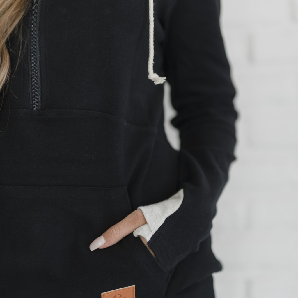 AMPERSAND AVE Classic Black Half-Zip - Ampersand Ave (S-3XL)