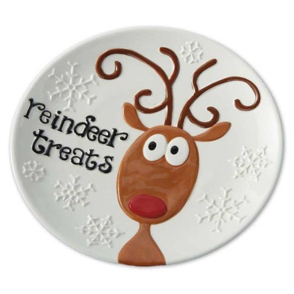 Design Imports Reindeer Treats Plate