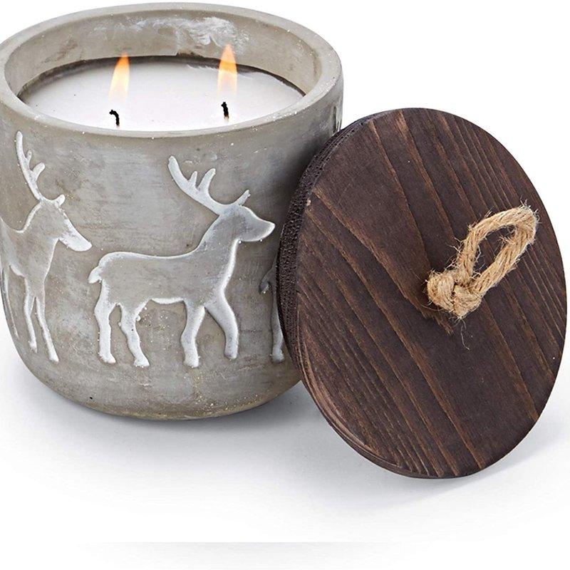 MUDPIE Mud Pie Deer Concrete Candle