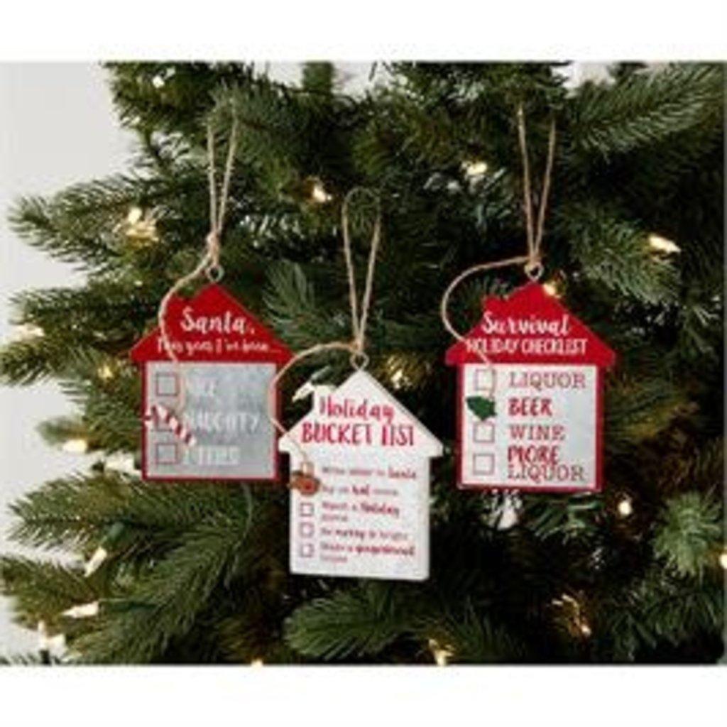 MUDPIE Mud Pie Checklist Ornaments (3 Lists)