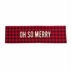 MUDPIE Mud Pie Buffalo Check Table Runner