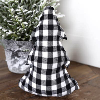 "Pd Home & Garden 11"" Buffalo Check Christmas Door Stopper"