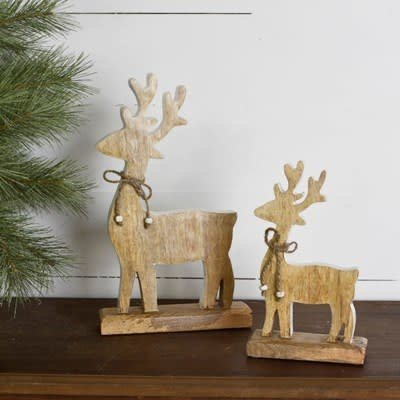 Pd Home & Garden Wooden Deer with White Edge (2 Sizes)
