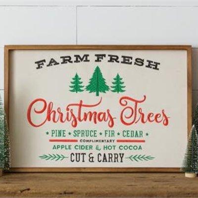 Audrey's 16x24 Farm Fresh Christmas Tree Sign