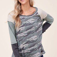 Clothing of America Camo & Olive Layered Long Sleeve Top (S-3XL)