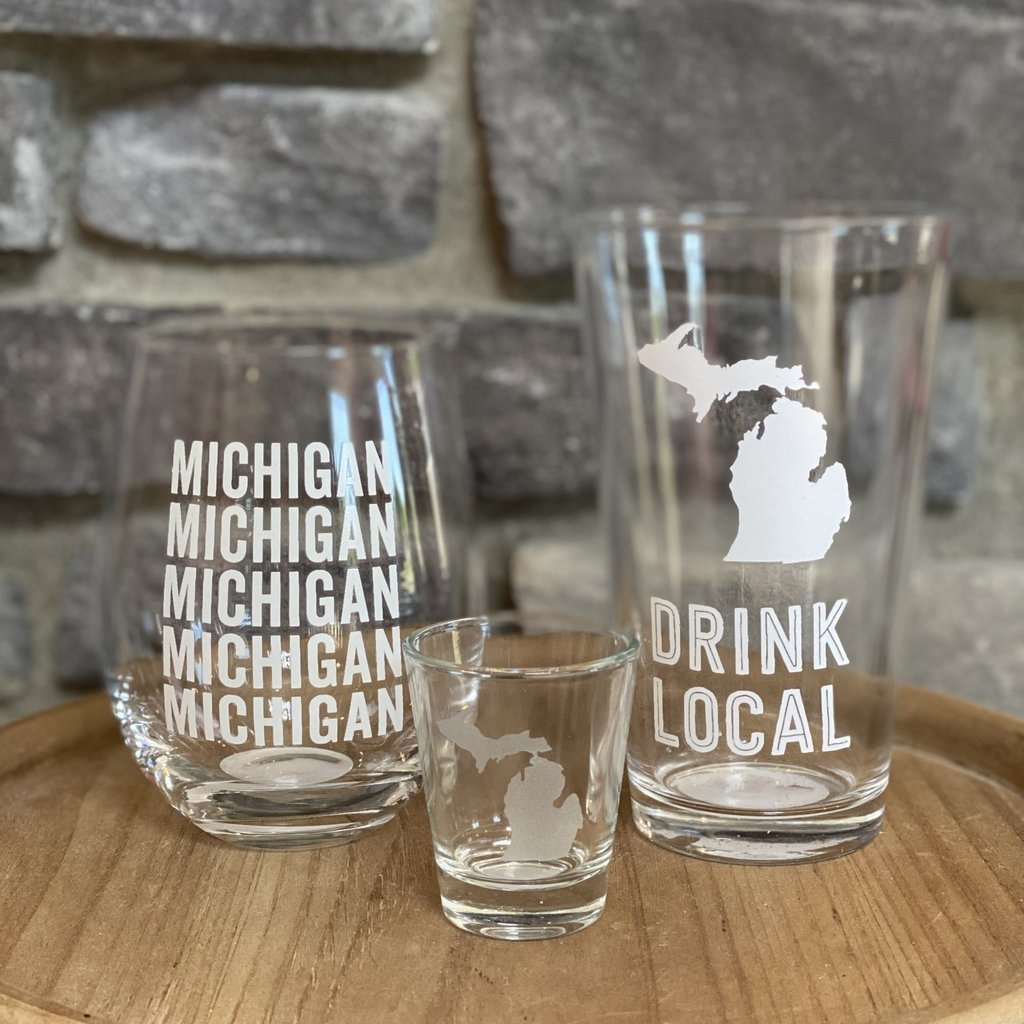 About Face Designs Michigan Bar Glasses (Sold Seperately)