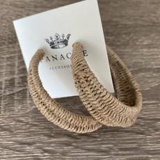 Panache Wicker Hoop Earrings