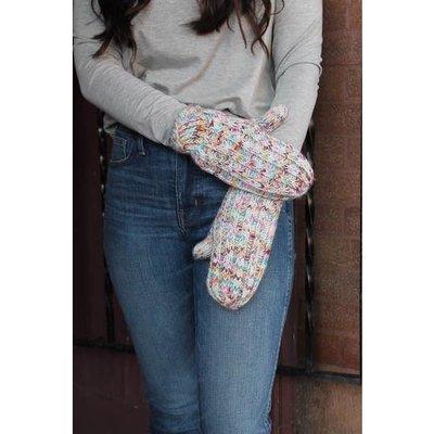 Panache Confetti Fleece Lined Cream Mittens