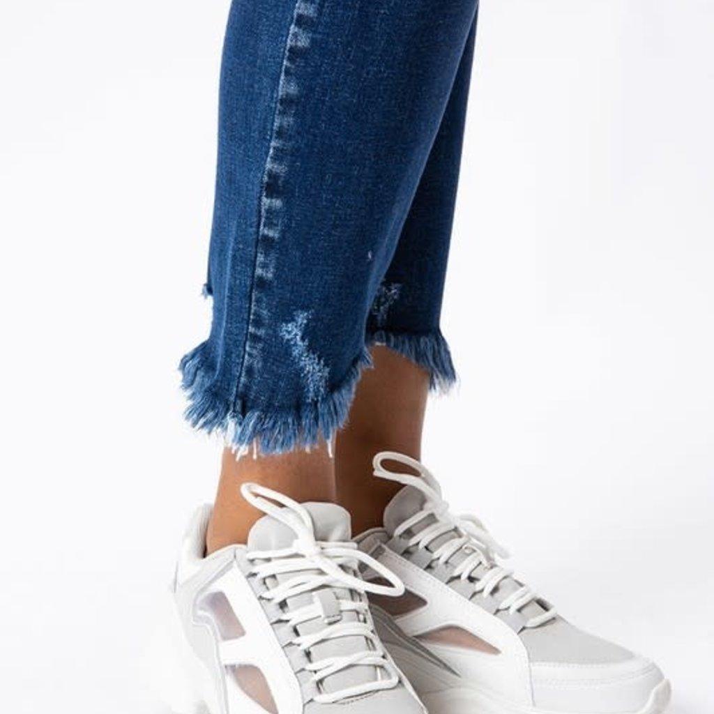 KanCan KanCan High Rise Ankle Fray Skinnies
