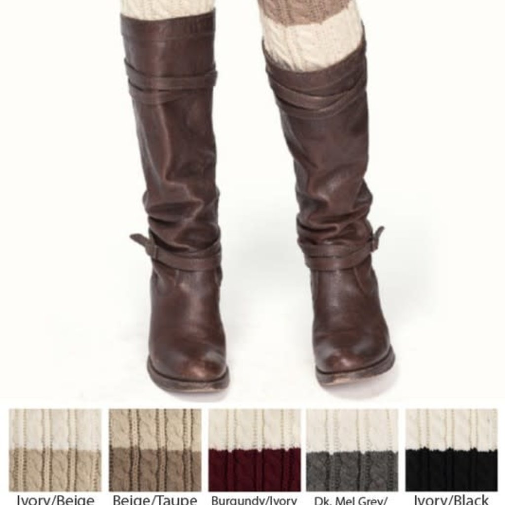 Suzie Q USA CC Knitted Boot Cuffs Two-Toned