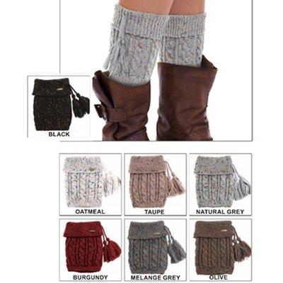 Suzie Q USA CC Knitted Confetti Boot Cuffs w/ Tassel