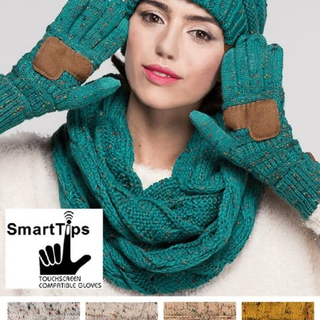 Suzie Q USA CC Cable Confetti Smart Tip Gloves