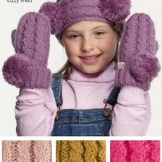 Suzie Q USA CC Pom Kids Gloves w/ Fuzzy Lining