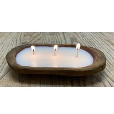 Suzie Q USA Wood Bowl Candle