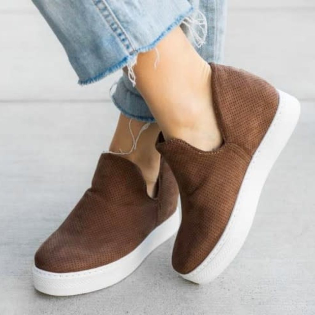 Bamboo Taupe Wedge Bootie
