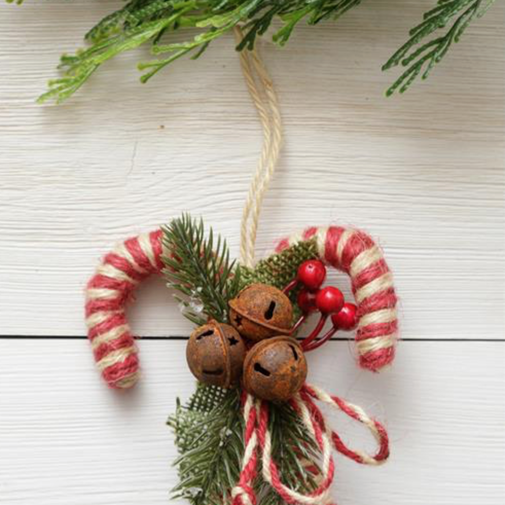 Audrey's Twine Candy Cane Ornament
