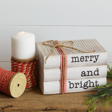 Audrey's Merry & Bright Stamped Book Decor
