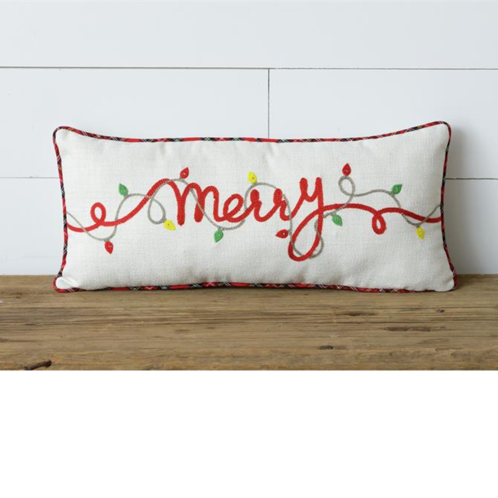 Audrey's Merry Pillow with LED Lights